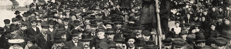 La manifestation du 1er mai à Montluçon (France). Vers 1910.
